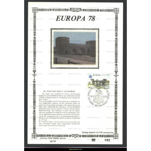 Maximum card 1978 Europa Doornik