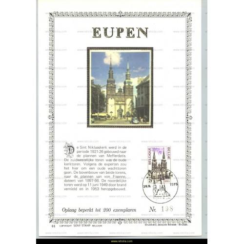 Maximum card 1973 Tourism Eupen