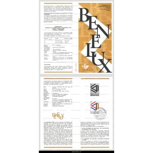 First Day Sheet 1969 Jubilee BENELUX