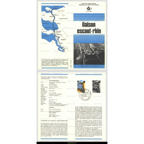 First Day Sheet 1975 Schelde-Rijn connection