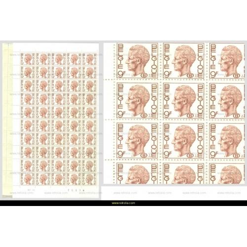 Full Sheet 1980 King Baudouin 9 Fr