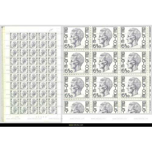 Full Sheet 1976 King Baudouin 6.50 Fr