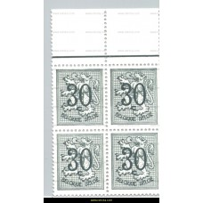 1957 Digit on heraldic lion 30 c