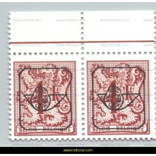1982 Digit on heraldic lion and streamer with overprint 4 Fr