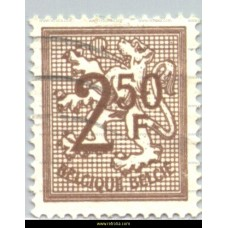 1970 Digit on heraldic lion 2,50 Fr