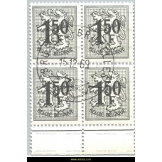 1969 Digit on heraldic lion 1,50 Fr