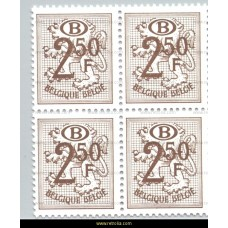 1979 Digit on heraldic lion with B in an oval 2,50 Fr