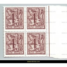 1977 Digit on heraldic lion with B in an oval and streamer 4 Fr