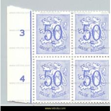 1951 Digit on heraldic lion 50 c