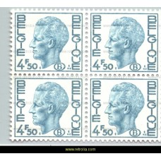 1975 King Baudouin with B in oval 4.5 Fr