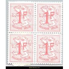 1960 Digit on heraldic lion 1 Fr