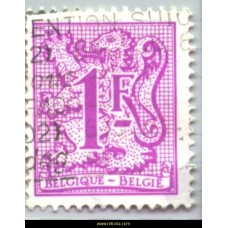 1987 Digit on heraldic lion and streamer