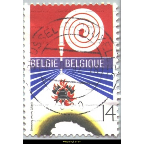 Stamp 1992 Firefighting