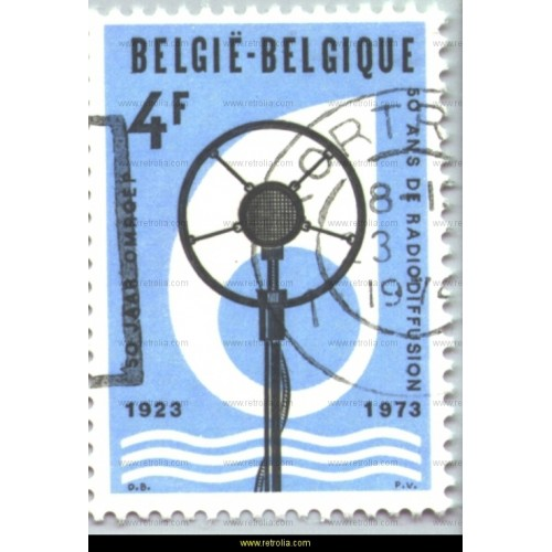Stamp 1973  Anniversary of the Belgian broadcasting