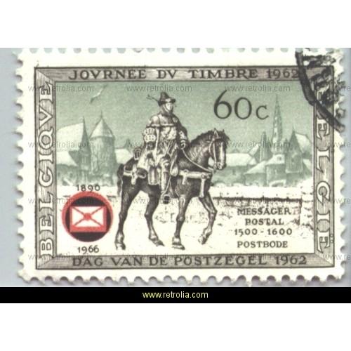 Stamp 1966 Belgian philatelists Association
