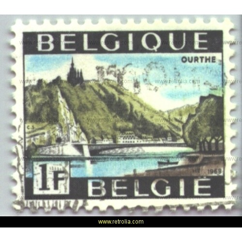 Stamp 1968  Tourism Ourthe valley
