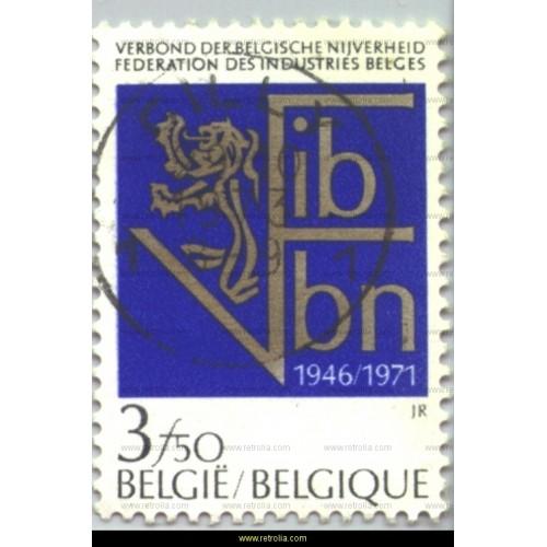 Stamp 1971   Federation of Belgian Enterprises