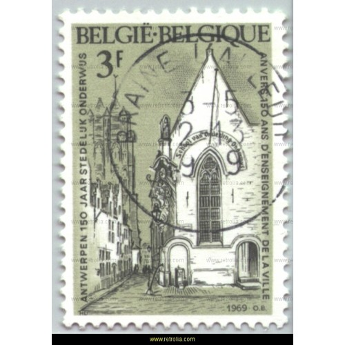 Stamp 1969  Education in the City of Antwerp