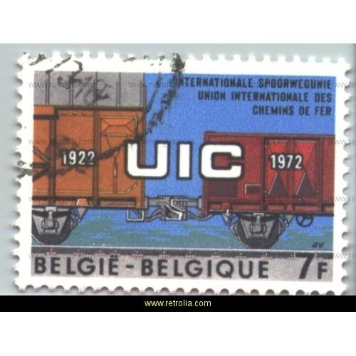 Stamp 1972  International Railway Union