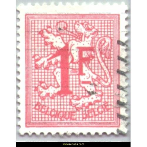 Stamp 1951 Digit on heraldic lion 1 Fr
