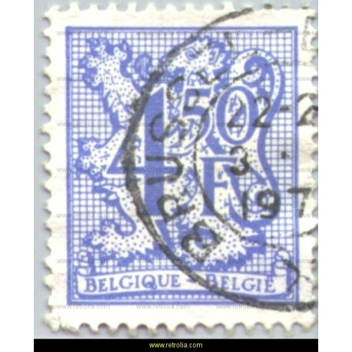 Stamp 1977  Digit on heraldic lion and streamer 4,50
