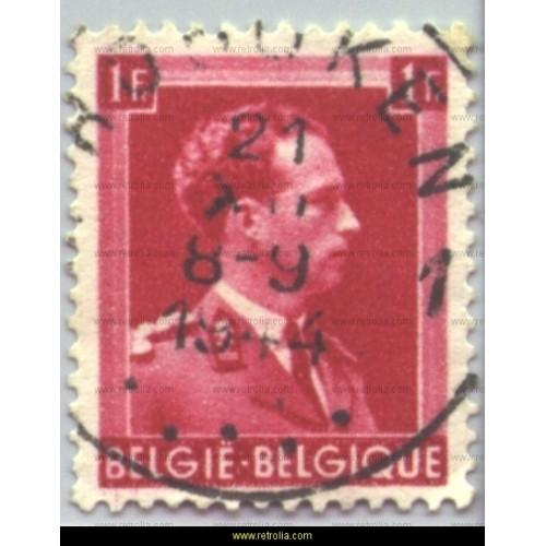 Stamp 1941  King Leopold III 1 Fr