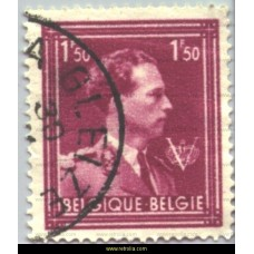 1944  King Leopold III with 'V' 1,50