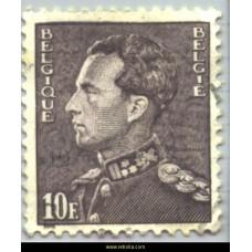 """1951 King Leopold III """"Poortman"""" 10 Fr"""