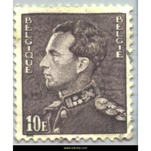 "Stamp 1951 King Leopold III ""Poortman"" 10 Fr"