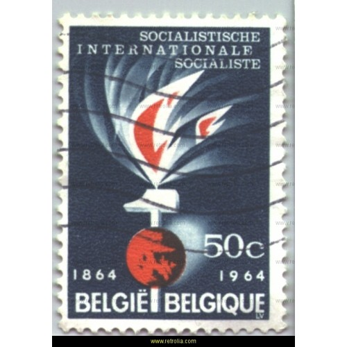Stamp 1964 Socialist International 50 c