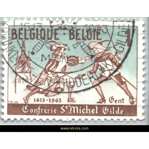 Stamp 1963 Musketeers Guild Sint Michiel