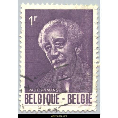 Stamp 1965 Paul Hymans