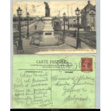 Orléans - Statue de Jeanne d'Arc et perspective du Pont sur la Loire