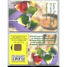 Carte postchèque et carte Visa des P&T